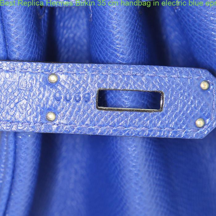 2ebd7a61f2aa Best Replica Hermes Birkin 35 cm handbag in electric blue epsom leather