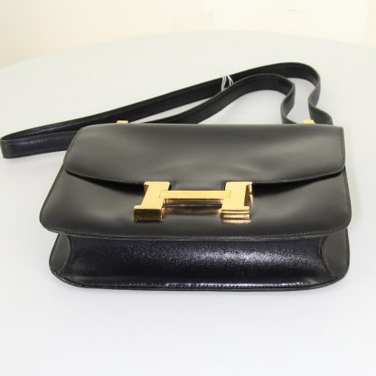 2c39597c46a Best Replica Hermes Constance handbag in navy blue box leather