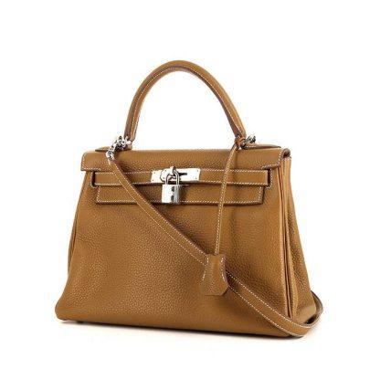 d17f8345ad43 Best Replica Hermes Kelly 28 cm handbag in Kraft togo leather ...