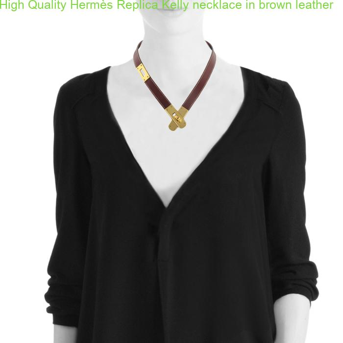 9b5aa3e22ee7 High Quality Hermès Replica Kelly necklace in brown leather – Hermes Replica  Bags