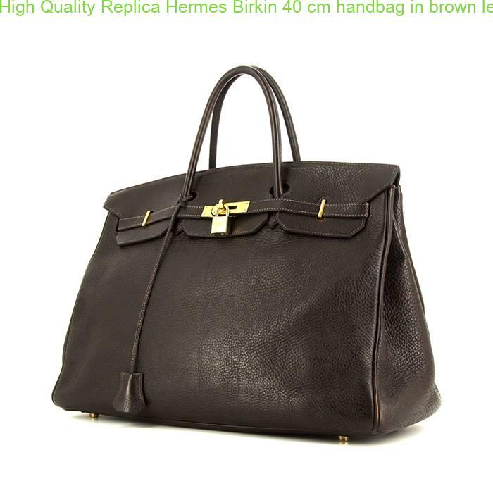 cb62525ab2c High Quality Replica Hermes Birkin 40 cm handbag in brown leather taurillon  clémence