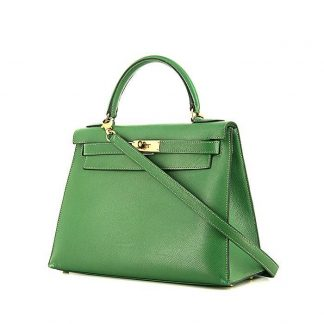 d3f62c05f5b High Quality Replica Hermes Kelly 28 cm handbag in green epsom leather ...