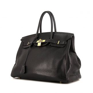 038c27a0691 You re viewing  Perfect Replica Hermes Birkin 35 cm handbag in black togo  leather £9