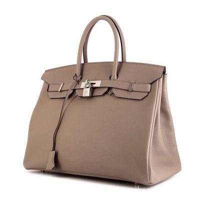 53d9c6590c Perfect Replica Hermes Birkin 35 cm handbag in grey epsom leather ...