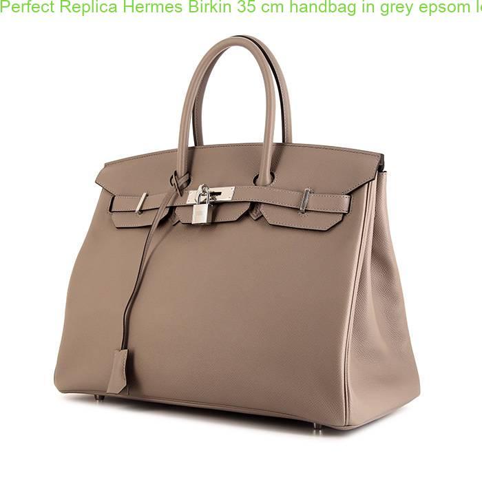 9bf575b109 Perfect Replica Hermes Birkin 35 cm handbag in grey epsom leather ...